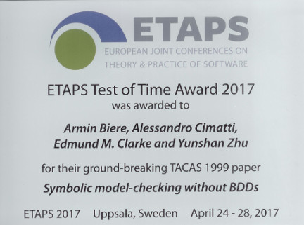 ETAPS'17 Test of Time Award